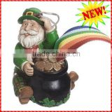 Funny St Patrick figurine and coin jar resin St Patricks Day