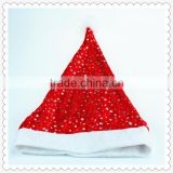 Good selling adult christmas hat with glitter star stamp