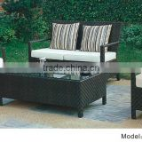 4pc rattan wicker sofa set with loveseat /club chairs/coffee outdoor furniture