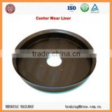Railway Rolling Stock Parts Bogie Center Plate Wear Liner