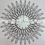 Hot sale Mordern Home Decorative Acrylic Diomond Aluminium Artificial Metal Wall Clock wholesale