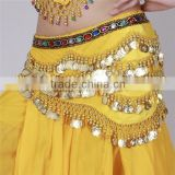 310 coins belly dance waist chains belt,colorful waist chain,Nile lumbar chain dance performances chain