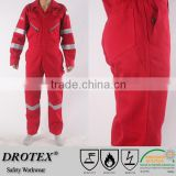PYROVATEX 260gsm FR Cotton Offshore Work Coverall with Seawater Corrosion Resistance Reflector