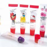 Color cosmetic tube for lip gloss nozzle cap screw cap PE PLASTIC SOFT COSMETIC TUBE FOR HAND CREAM, EMPTY CREAM TUBE