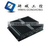 NFD10 Cheap Fanless mini industrial pc CPU 1037u Fanless Box PC support LVDS
