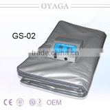 GS-02 2 zone body heat thermal slimming body wrap shaping suit sauna blanket for weight loss