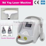 Pigmented Lesions Treatment 1064/532nm Q Switched Nd Yag Laser Stimulation Current 0.5HZ