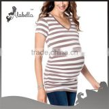wholesale 100% cotton maternity wear tops ,blank maternity t shirts