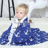 2017 best selling sailor boat jacquard baby blanket