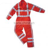 European standard reflective flame retardant anti-static Siamese clothing overalls Fire suit