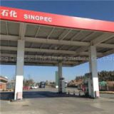 Steel Auto Gas Service Station With Canopy And Floor Design