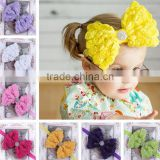 chiffon flower big bowknot hairband /kids headwear/girls headband