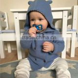 B22269A Baby knit cardigan sweater Europe Baby Hooded knit Cardigan