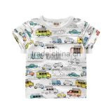Child Clothes Top Car Printed Boys Clothing Kids T Shirt