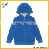Personalized Breathable Blue Blank Kid Jacket With Hood