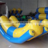 China PVC Tarpaulin Inflatable Flying Fish Tube / Inflatable Water Games Flying Banana Boat For Sea