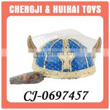 Hot selling blue party viking hat with horns for children