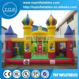 Inflatable amusement park, children like cartoon characters inflatable castle