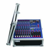 8 channels Mixer with Amplifier 1200W*2