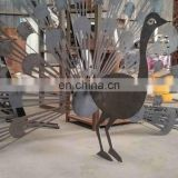 Outdoor wedding decorations garden ornaments metal iron peacock