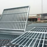 Galvanized 6mm cross bar trench drain grates