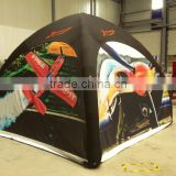 5mx5m Inflatable black dome tent for advertising
