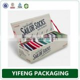 New design luxury cardboard sock packaging gift box
