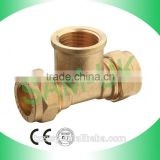"1/2""*1/2"" Golden Color Copper Thin Wall Pipe Fittings"