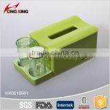 Resturant suitable napkin dispenser set with cruet
