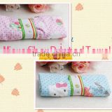 China cheap supply super soft ultra-compact nice looking microfiber printed baby towel set