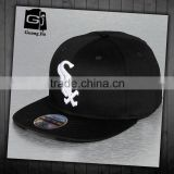 Custom Made 3D Embroidered Snap Back Cap/Flat Bill Hip Hop Snapback/Hiphop Cap                                                                         Quality Choice