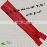 No.5 close end nylon waterproof zipper