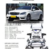 merccedes benz body kit for 2014 W204 C63 AMG , upgrade body kit for 2006-2013 C200/C180/C260 by maker