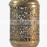 Brass Moroccan Candle Lantern Cylindrical