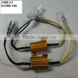 LED signal load resistor pack 21W8.2O with Round pins