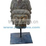 Antique Buddha Face Statues