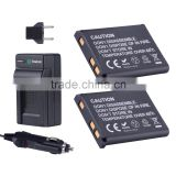 Smatree Replacement Battery(2-pack) and Battery Charger for Nikon EN-EL10