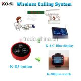 wireless service call button system for restaurant equipment with table bell for customer service