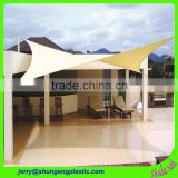 garden usage hdpe triangle shape sun shade sail