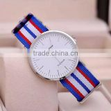 Hot Sale Ultra-thin Stainless Steel Watch Face Nylon Strap Wrist Watchwrist Watch For Men                                                                         Quality Choice