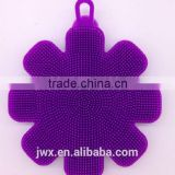 Purple silicone body cleaning brush skin friendly