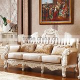 Luxury Classical French Italian European Antique Style Carved Rubber Solid Wood Frame Artistic Red Brown Leather Sofa Set                                                                         Quality Choice