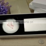 Aluminum makeup mirror and business card holder set packing /wedding gift sets