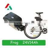Frog Type 24V 14Ah High Discharge Rate Electric bike battery E-bike Lithium Battery Pack