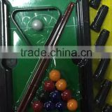 Hot Selling Plastic Mini snooker game funny Pool Table with colorful ball and billiard cue cheapest price