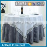 Factory Wholesale jacquard wedding table cloth / chair cloth ,table cloth wedding made in china