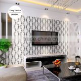 stocklot deep embossed pvc coated wallpaper, black and white fashion geometric wall decal for residential , stunning wall mural
