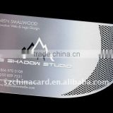Stainless Steel Metal Business Card with special shape and hollow out border