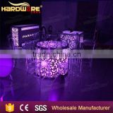 new design LED bar furniture table and chair set glass tables and acrylic chairs