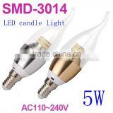 Good price!!!2w 3w 4w E12 E14 Dimmable UL LED Candle Light,LED Candle Bulb,LED Flameless Candle Lamp led light candle